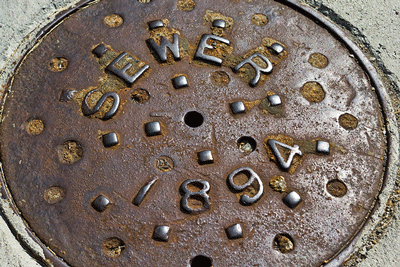 Sewer manhole cover from 1894