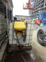 Marina Bay site with biodiesel tank for crane