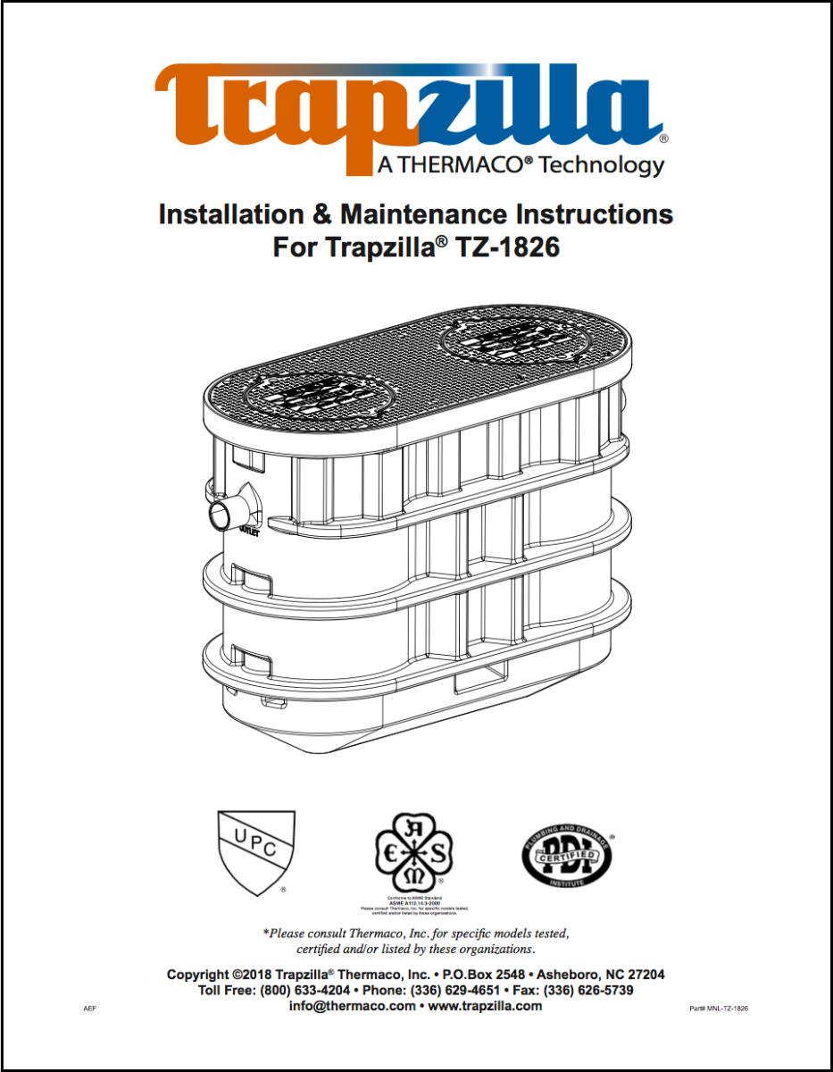 TZ-1826 manual